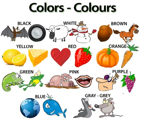 Изучать цвета с ребенком по английский