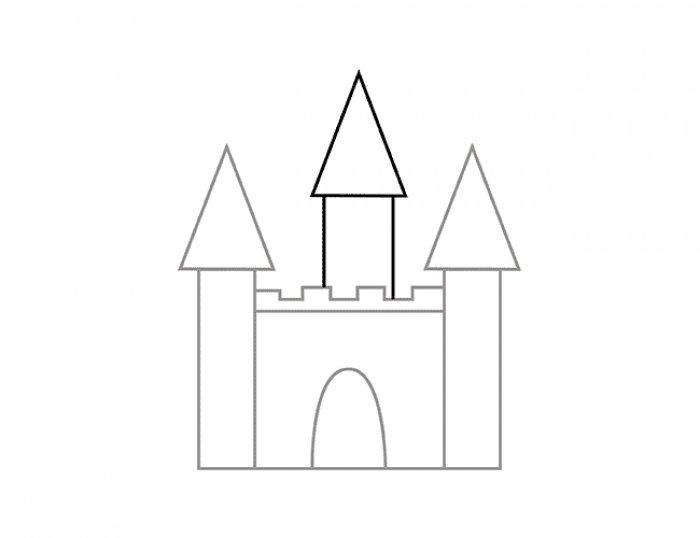 сказочный замок рисунок пошагово
